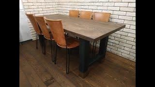 Большой обеденный стол в стиле лофт. Часть 1/2