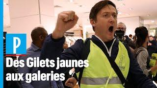 Des Gilets Jaunes s'invitent aux Galeries Lafayette
