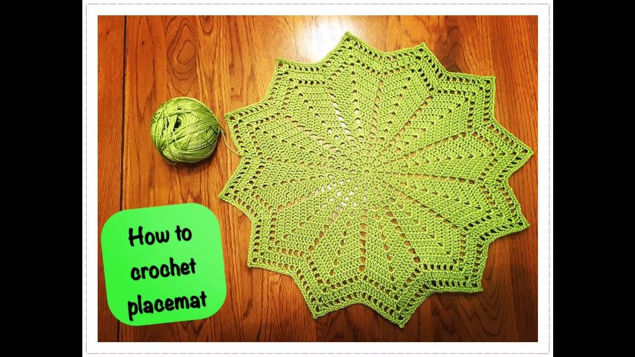How to crochet placemat youtube how to crochet placemat bankloansurffo Gallery