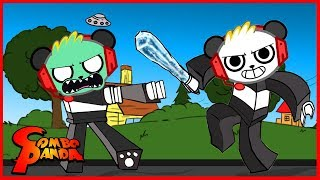Roblox Most Epic Battle with Zombies and Ice Breaker Let's Play with Combo Panda