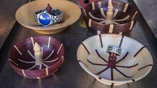 Woodturning Segmented Ring Jewlery Dish Holder