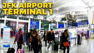 ⁴ᴷ⁶⁰ Walking John F. Kennedy (JFK) International Airport Terminal 1, NYC
