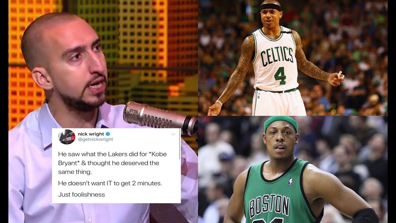 04d94079e5e7 Paul Pierce slandered by Social media and Nick Wright for Isaiah Thomas  comments!