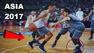 Stephen Curry BREAKS ANKLES in Asia (UNDER ARMOUR TOUR 2017)