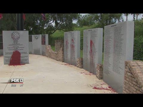 Tampa-area Confederate memorial vandalized