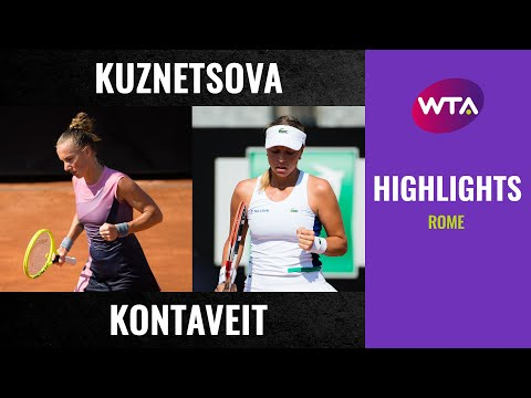 WTA Roma round 2 | Svetlana Kuznetsova vs. Anett Kontaveit