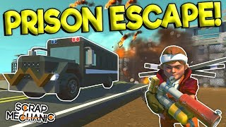 PRISON ESCAPE HIDE & SEEK! - Scrap Mechanic Multiplayer Gameplay - Cops VS Robbers Jailbreak