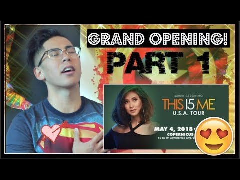 Sarah Geronimo This 15 Me: GRAND OPENING! Sarah G conquers the stage (POPSTAR REACTS!) #This15Me