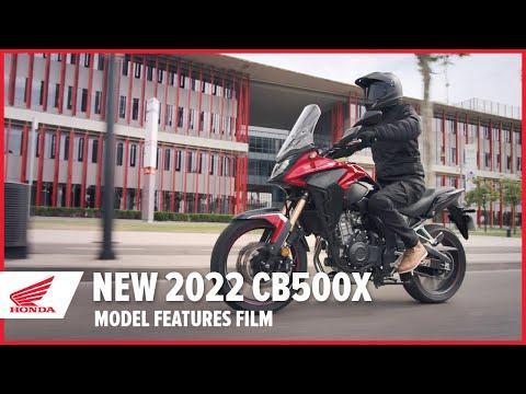 New 2022 CB500X Model Features Film