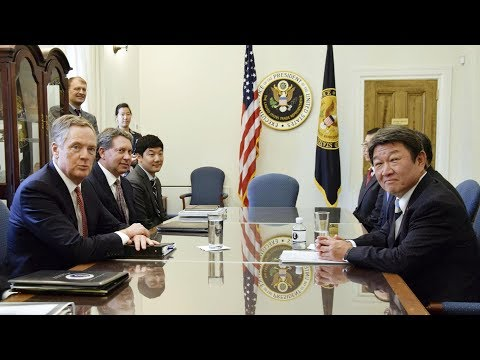 Trade officials of US and Japan meet for 'free, fair and reciprocal' framework