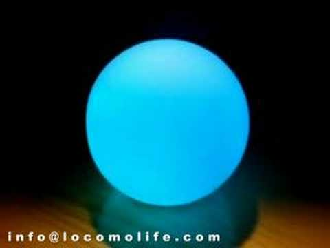 Colour Effects On Mood locomo - color changing led mood light lamp ball - youtube