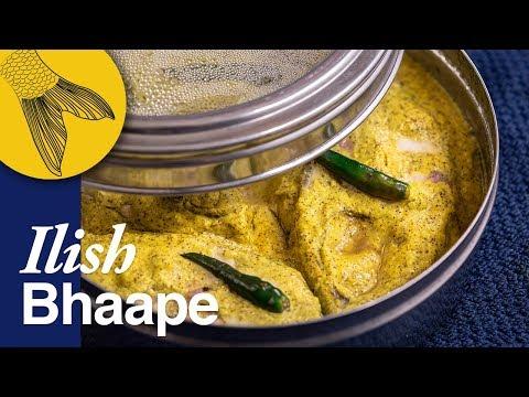 Ilish Bhapa Shorshe Diye—Bengali Recipe Of Steamed Hilsa In Mustard-Coconut Paste—Easy Ilish Recipe