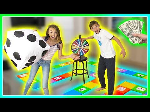 GIANT BOARD GAME CHALLENGE - Winner Gets CASH! | We Are The Davises