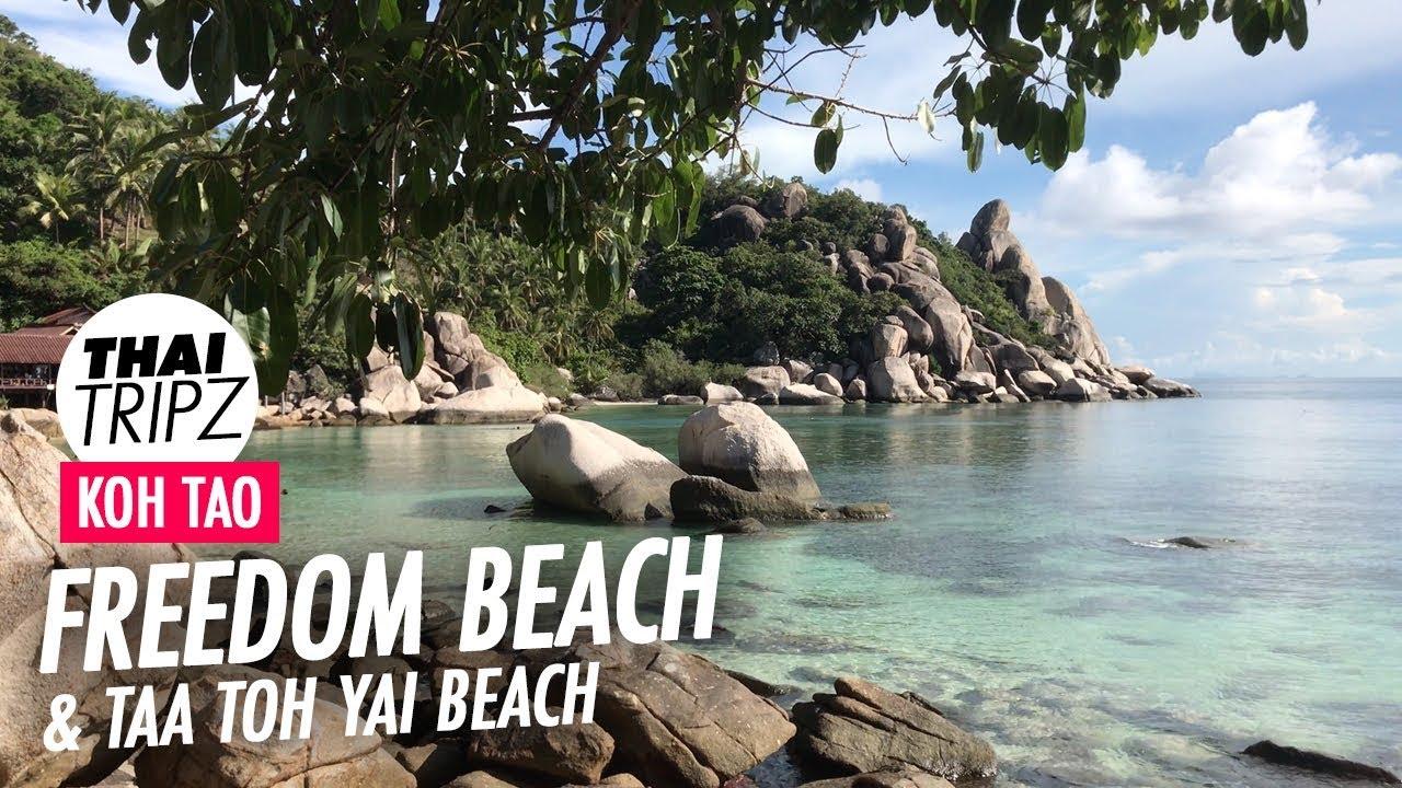 Freedom Beach Taa Toh Yai Beach Koh Tao Thailand Youtube