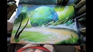 Green Shore SPRAY PAINT ART by Skech