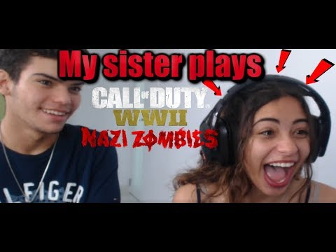 My sister plays Call of Duty WW2 - NAZI...