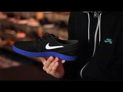 materno Disminución de primera categoría  Nike SB Lunar Stefan Janoski Skate Shoe Review - Tactics.com - YouTube