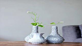 видео Оригинальная настенная ваза для цветов