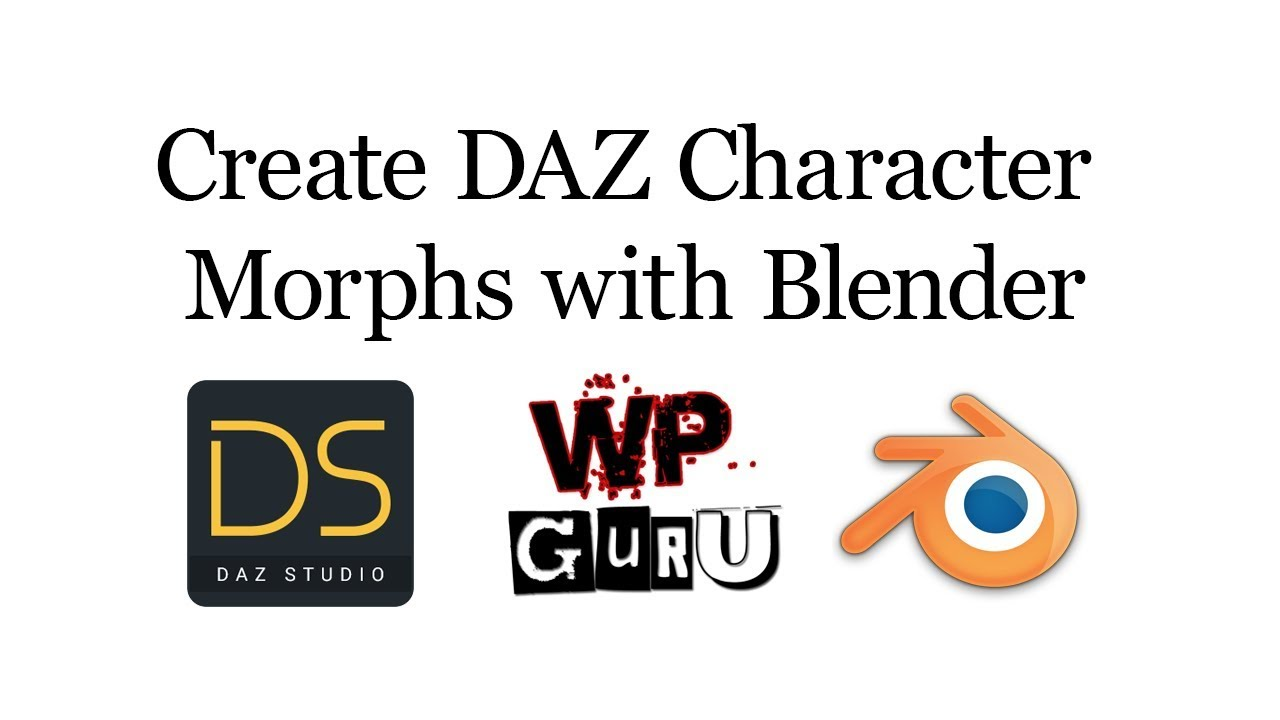 How to create DAZ Character Morphs with Blender