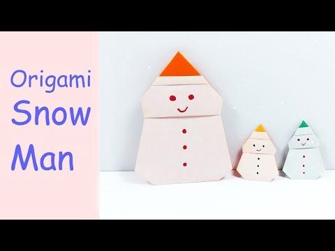 Easy Origami Snowman   DIY Paper Crafts   DIY Handmade