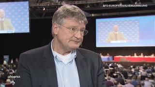 Interview Jörg Meuthen mit Alexander Kähler bei der Europawahlversammlung am 12.01.2019