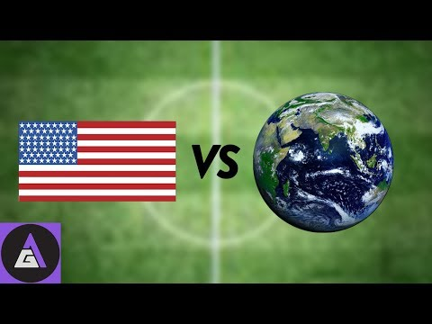 EVERYONE BUT AMERICA SUCKS AT SOCCER - FIFA 18 Gameplay (SNES Classic Giveaway)