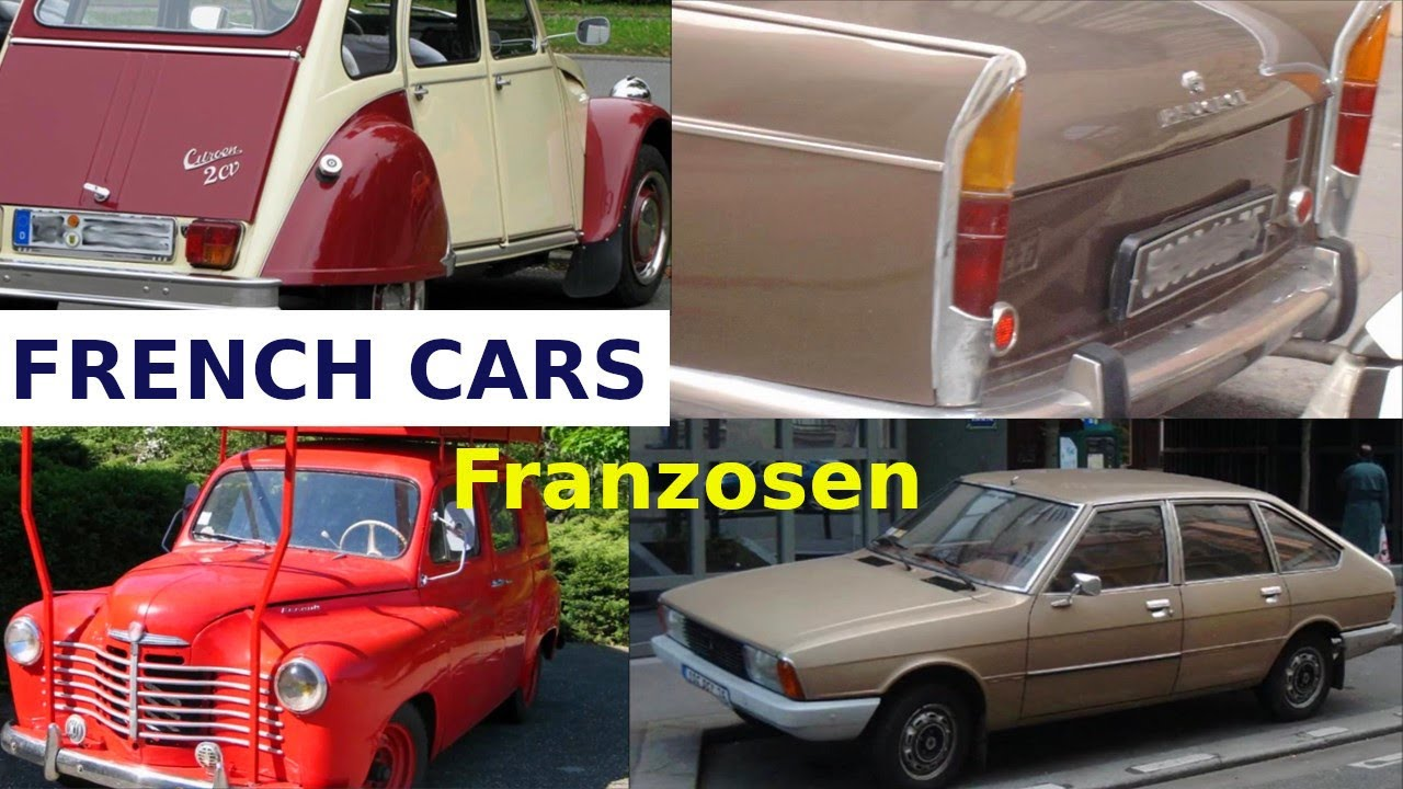 alte französische autos - old french cars - peugeot-citroen-renault