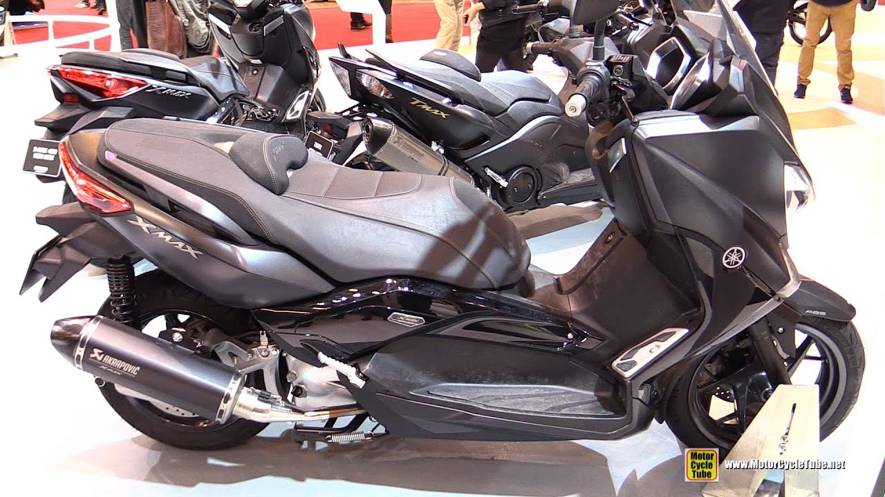 2016 yamaha xmax 125 iron max abs walkaround 2015 salon de la moto paris youtube. Black Bedroom Furniture Sets. Home Design Ideas
