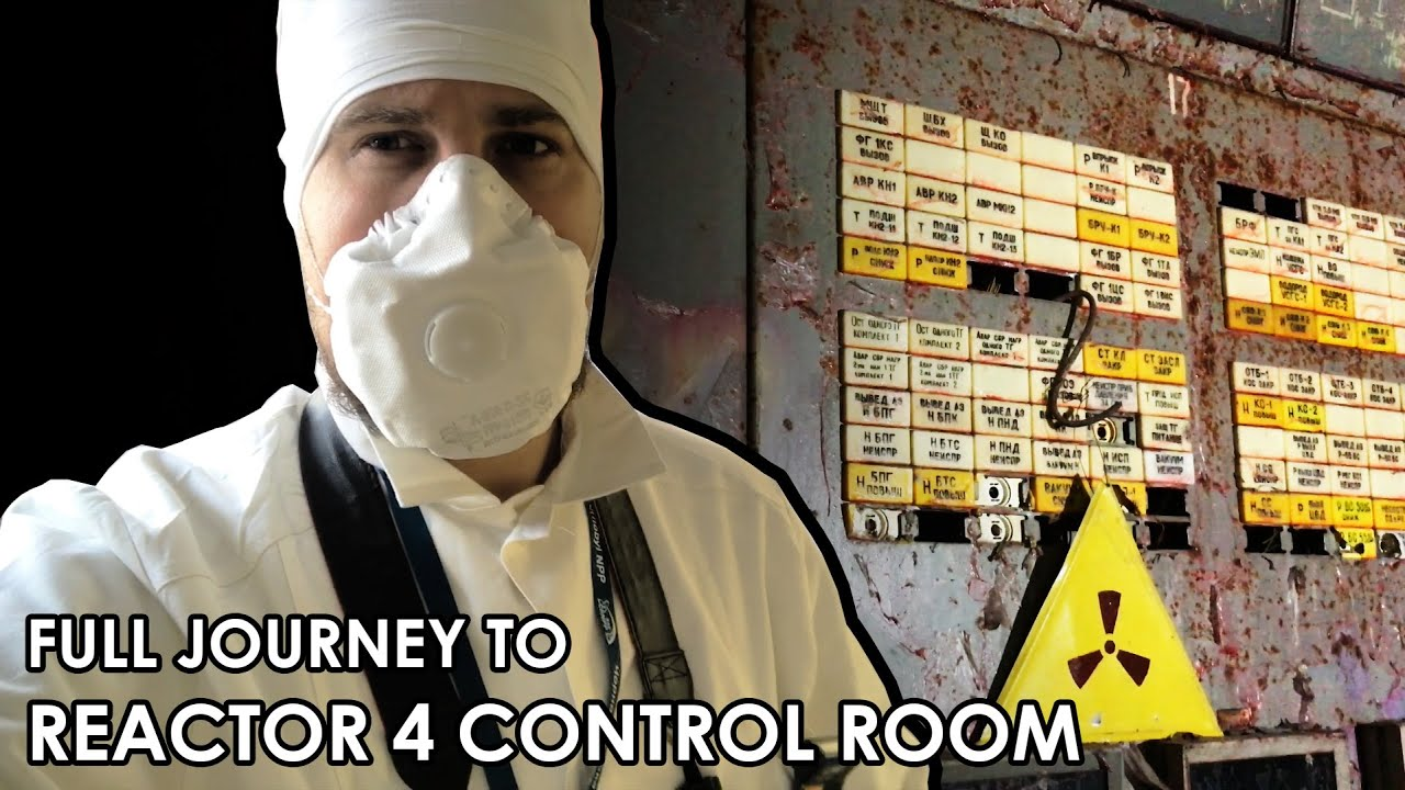 Full Journey to Reactor #4 Control Room - Inside Chernobyl ЧАЭС Sarcophagus 2019