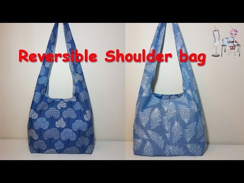 DIY Reversible Shoulder Bag   Boho Bag   Coudre Un Sac   Bolsa De Bricolaje   가방  バッグ  мешок