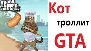 Лютые приколы. GTA - ТРОЛЛИТ КОТ!!! Самое смешное видео! Засмеялся проиграл! – Domi Show!