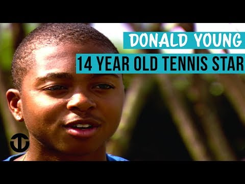 US Tennis Star Donald Young Aged 14 On Trans World Sport