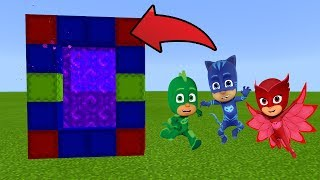 Minecraft : How To Make a Portal to the PJ MASKS Dimension