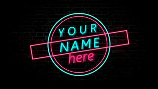 TEMPLATES #9 Intro SONY VEGAS 9 Top Free 2D Neon Intro Templates With Text Download Free 4 In 1