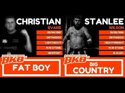 CHRIS EVANS Vs STANLEE WILSON - BKB3 WORLD LIGHT HEAVYWEIGHT CHAMPIONSHIP FIGHT * EXCLUSIVE *