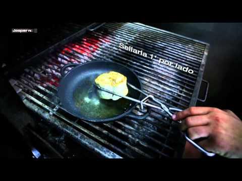Merluza con gulas al Horno de brasa Josper / Hake with young eel  - Charcoal Broiler Josper