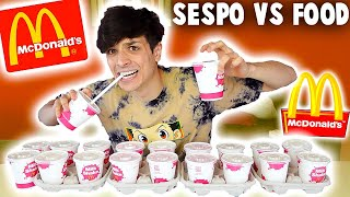 SESPO VS 20 MILKSHAKE!!! - Sespo vs Food