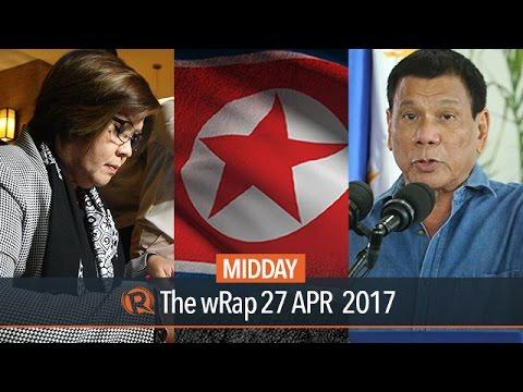New York Times, De Lima, US on NoKor | Midday wRap