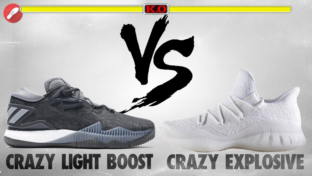 153ac1a4a Adidas Crazy Light Boost 2016 vs Crazy Explosive Low Primeknit! The Sole  Brothers