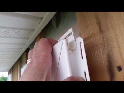 Сайдинг. Обшивка окна сайдингом. Оформление окна сайдингом. Приоконная планка.