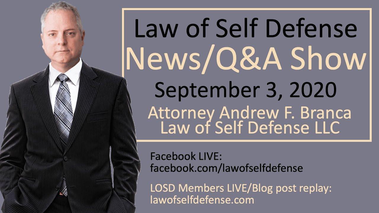 News/Q&A Show: Sept. 3, 2020