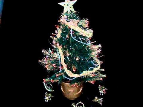 Rotating Fiber Optic Christmas Tree