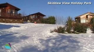 Winter at Skiddaw View Holiday Park, nr Bassenthwaite, Lake District, Cumbria