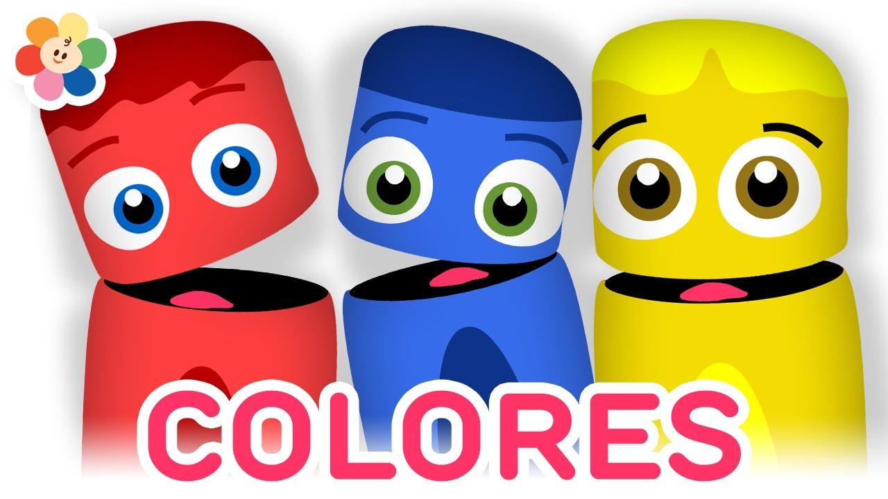 Colección De Colores Rojo Azul Y Amarillo Aprender Colores