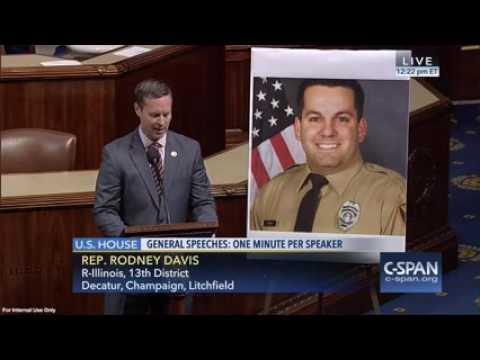 Davis Honors Officer Blake Snyder on House Floor