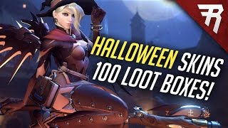 SO MANY LEGENDARIES! Opening 101 Halloween Loot Boxes! New Overwatch Skins & Highlight Intros