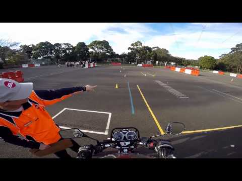 NSW Motorcycle Operator Skills Test (MOST) - My RAW footage.