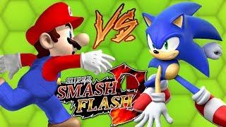 MARIO VS SONIC - Super Smash Flash 2 | JOGOS ONLINE