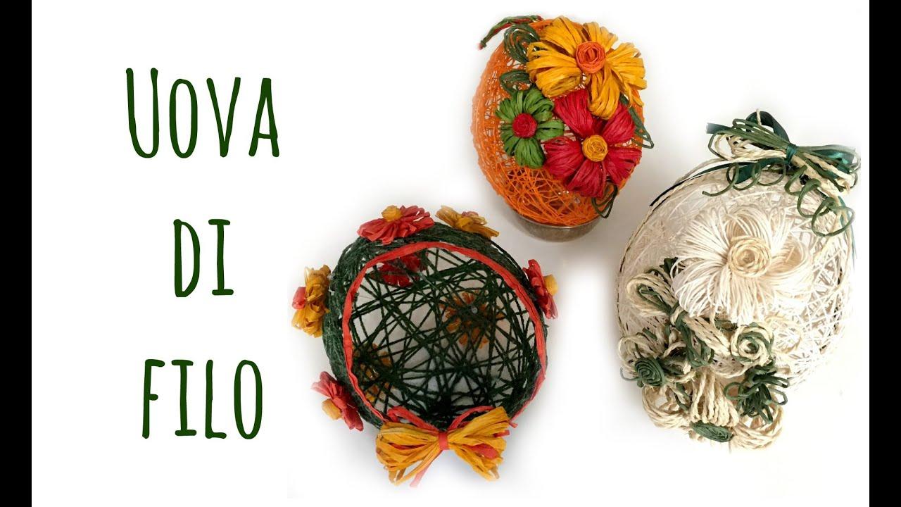uova di filo (pasqua/riciclo/creatività) arte per te - youtube - Uova Di Pasqua Fai Da Te Carta