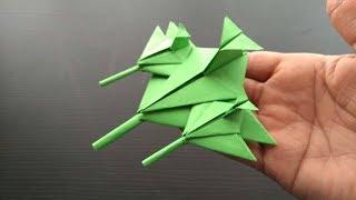 Cómo hacer un jet / avión de combate Origami